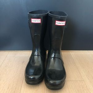 Women's Short Gloss Hunter Boots